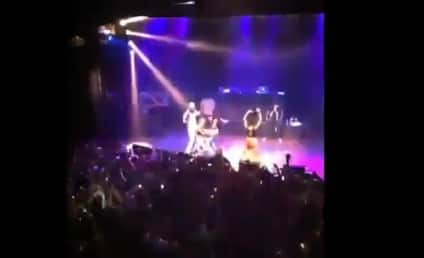 Miley Cyrus: Twerking Away at Juicy J Concert!