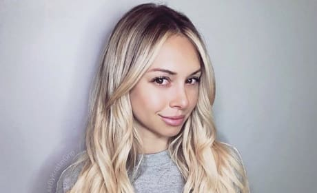 Corinne Olympios Shows Roots, Midriff