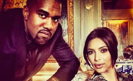 Kim Kardashian and Kanye West in Happier Times