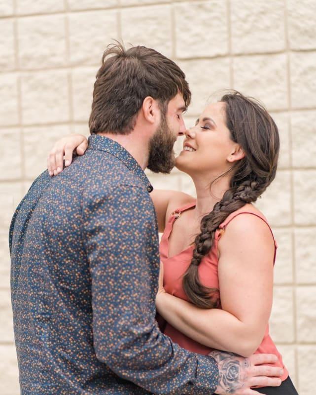 Jenelle and david eason kiss