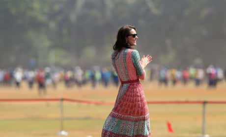 Kate Middleton Watches Prince William Play Cricket