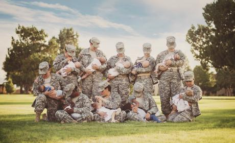 Military Moms Breastfeed