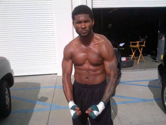 Usher Shirtless Photo