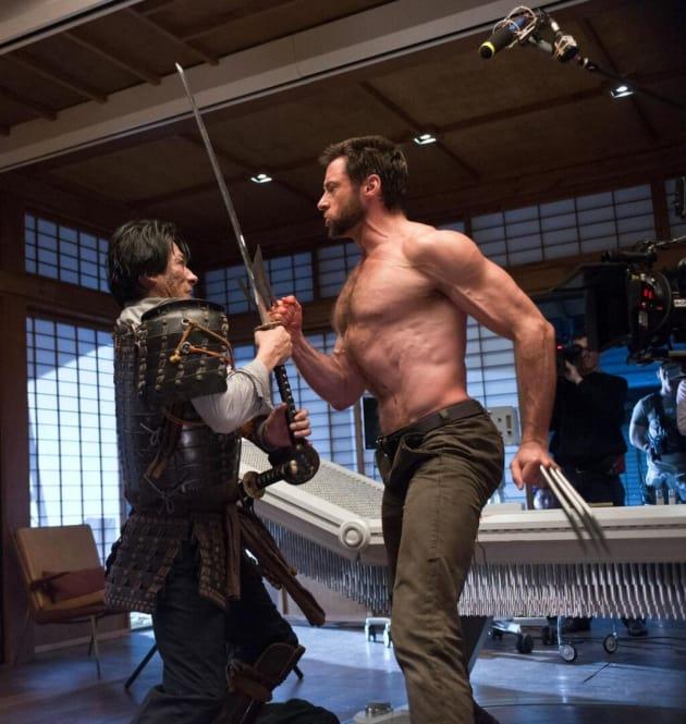 The Wolverine Hiro Sanada and Hugh Jackman