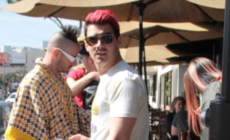 Nick and Joe Jonas Lunch at Kings Road Cafe