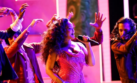 Rihanna Performing at Grammys