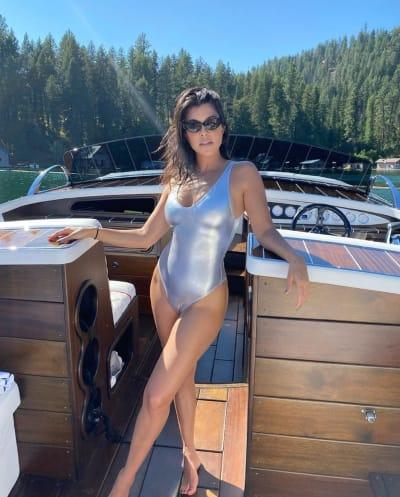 Kourtney Kardashian at the Lake