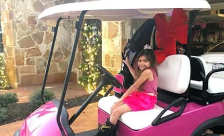 Sophia Abraham In Her Pink Golf Cart