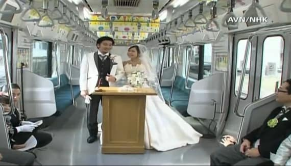 Tokyo Couple Gets Married On Train Car, Relives Meeting -1366