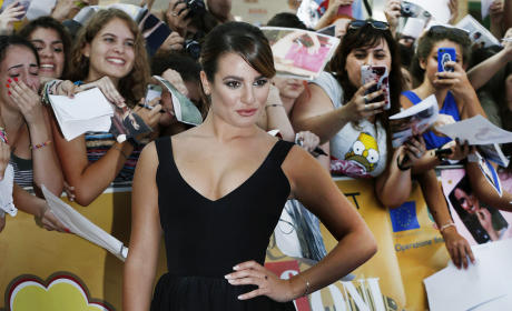 Lea Michele in Black