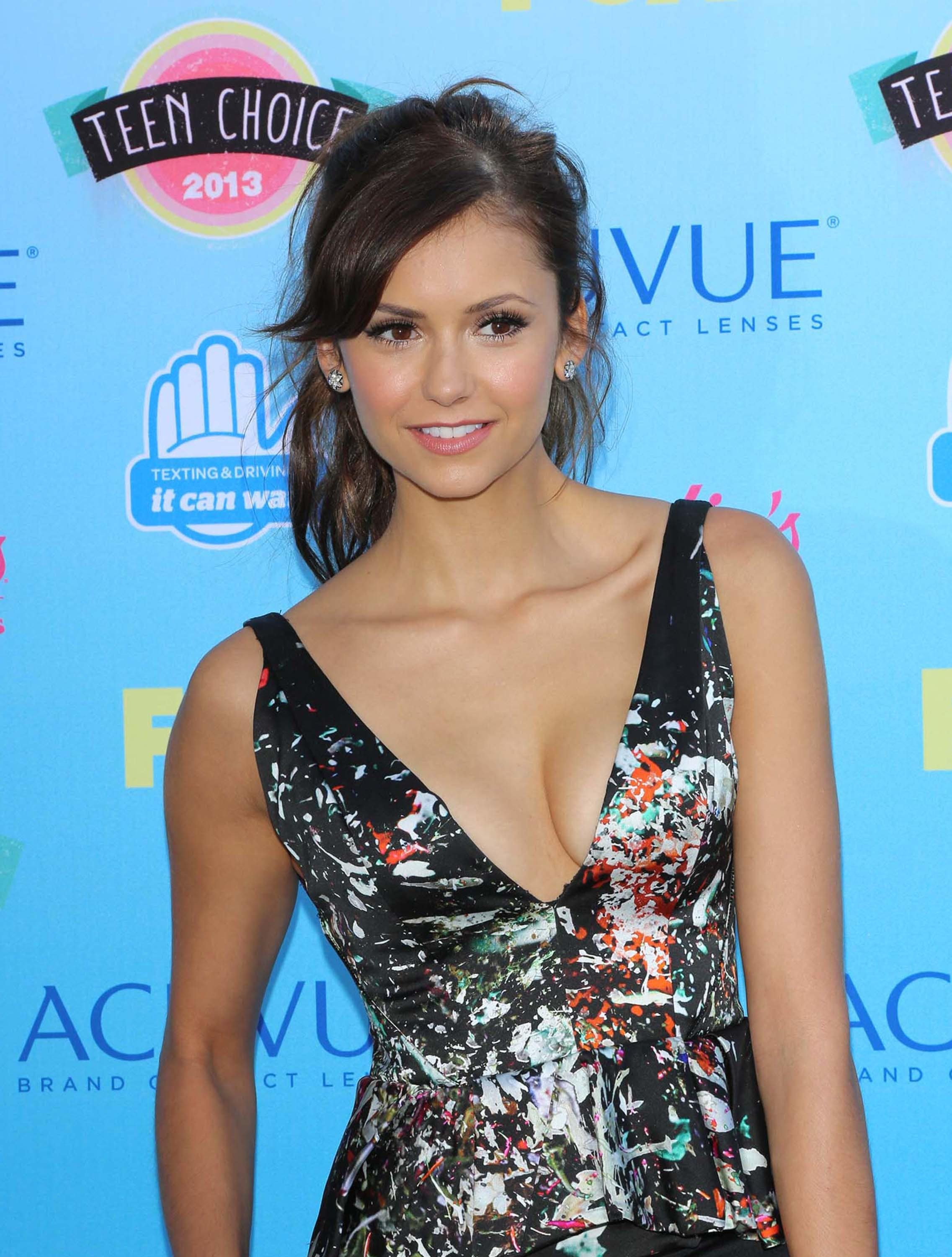 Nina Dobrev Cleavage Pic The Hollywood Gossip Cleavage is the narrow depression or hollow between human breasts. nina dobrev cleavage pic the
