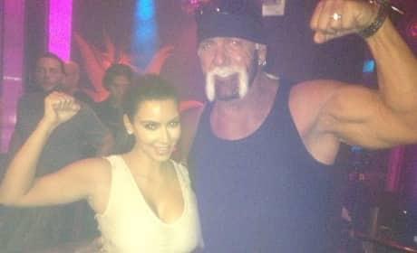 Hulk Hogan and Kim Kardashian