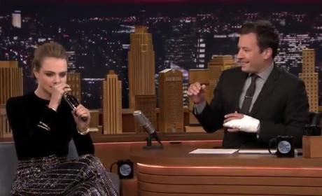 Cara Delevingne Beatboxes on The Tonight Show