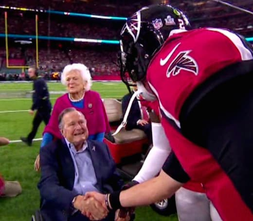 President Bush Coin Toss