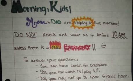 Parents' Note to Kids