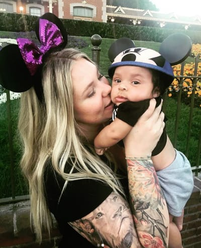 Kailyn Lowry and Baby Lux at Disneyland