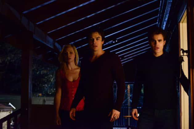 Caroline, Stefan and Damon