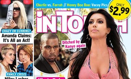 Kim Kardashian, Baby Ditched By Kanye Again?!