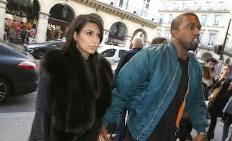 Kim Kardashian in Fur Coat