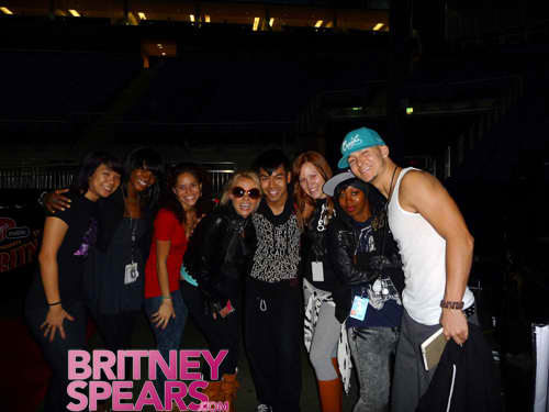 Britney and Her Dancers