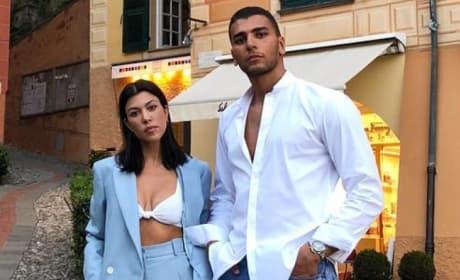Kourtney Kardashian and Younes Bendjima in Italy