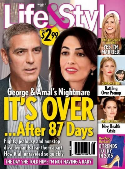 George Clooney and Amal Clooney: Is It Over After 87 Days ...