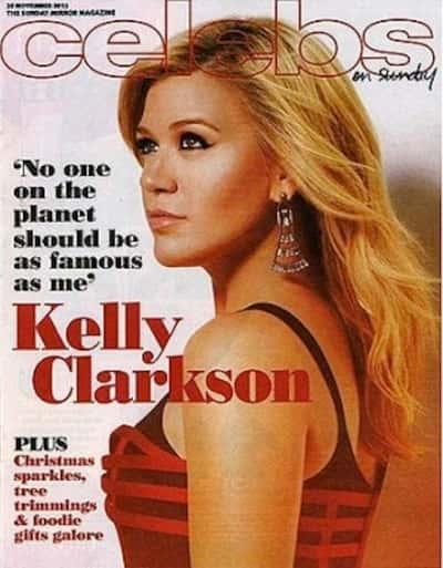 Kelly Clarkson Sunday Mirror Cover