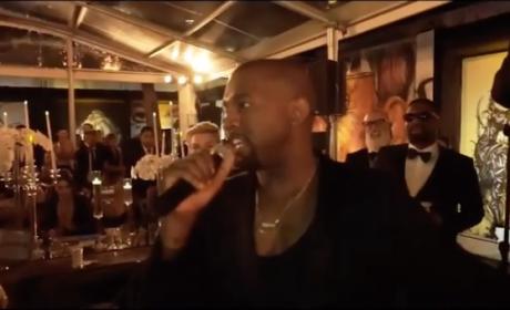 Kanye West interrupts wedding speech