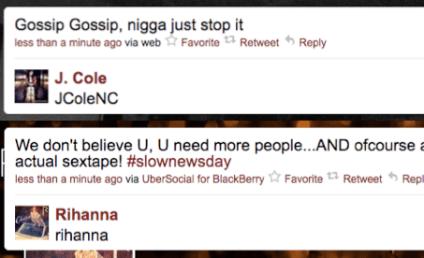 Rihanna, J. Cole Deny Sex Tape on Twitter