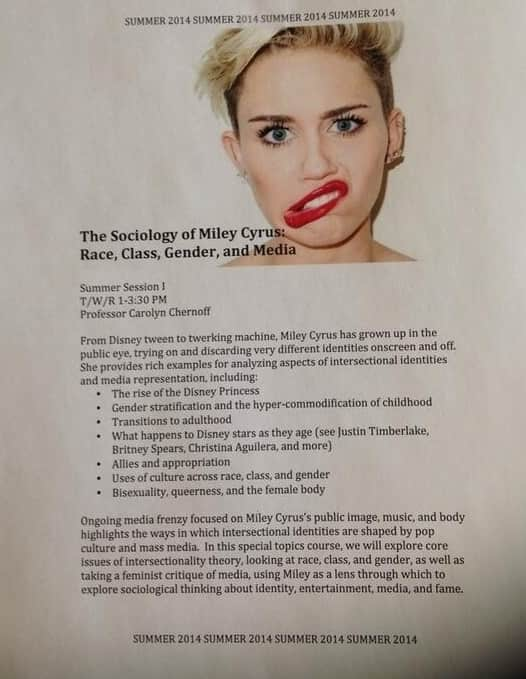 The Sociology of Miley Cyrus
