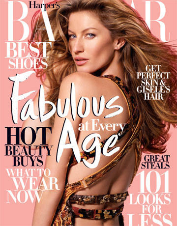 Gisele Bundchen: Harpers Bazaar Cover