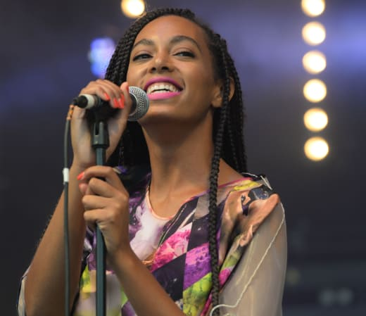Solange Knowles on the Mic