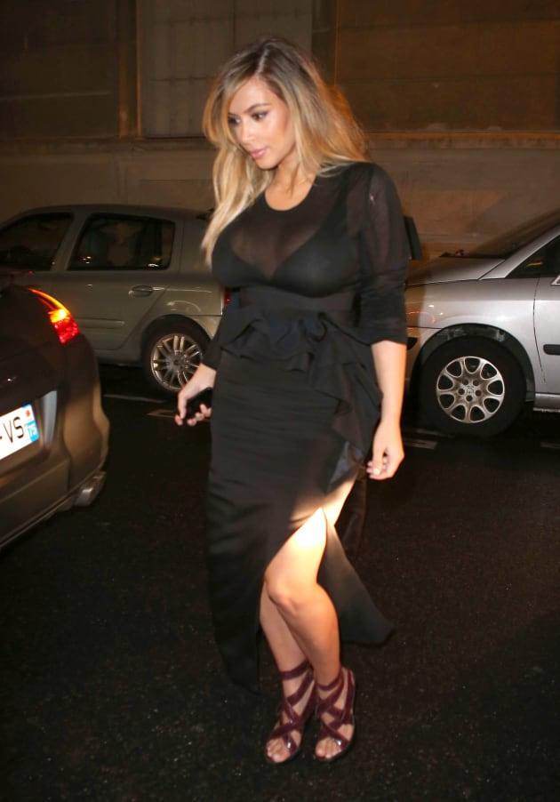 Kim Kardashian Attends Fashion Week
