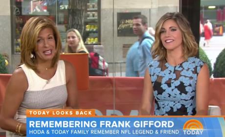 Hoda Kotb Remembers Frank Gifford