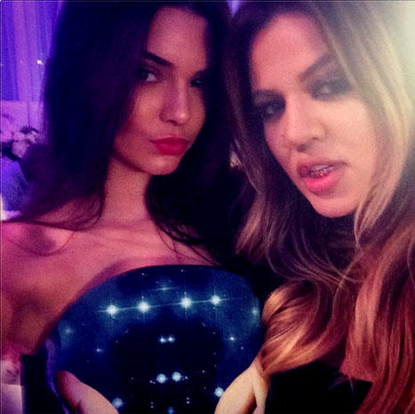 Khloe and Kendall Photo