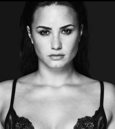 Demi Lovato Looks Serious
