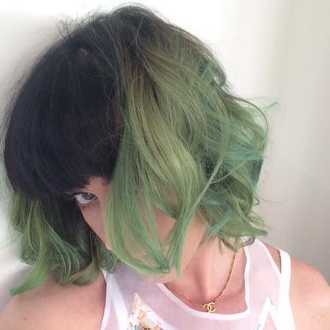 Katy Perry Green Hair Photo