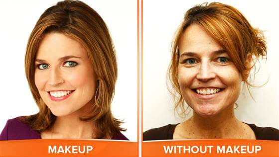 Savannah Guthrie: No Makeup!