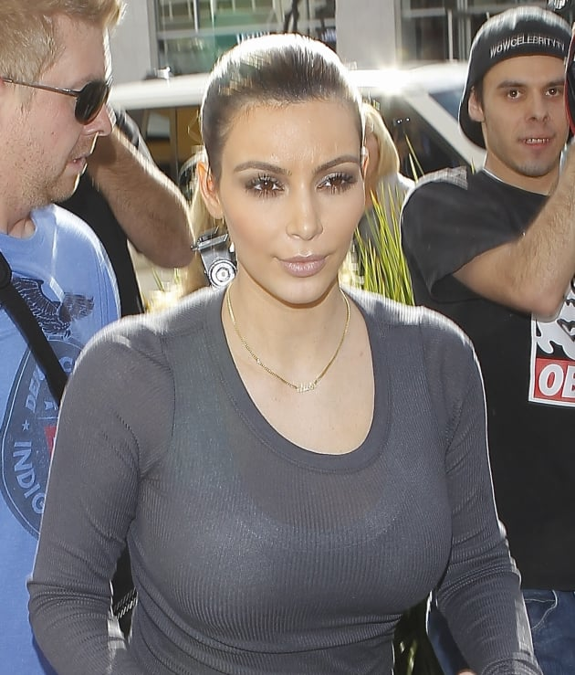 Kim Kardashian, Sheer Top