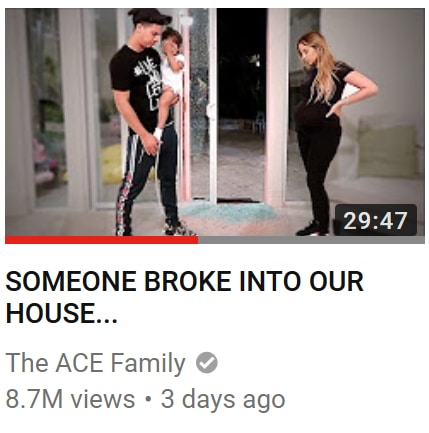 The ACE Family: Did YouTube Vloggers Fake Their Own Burglary