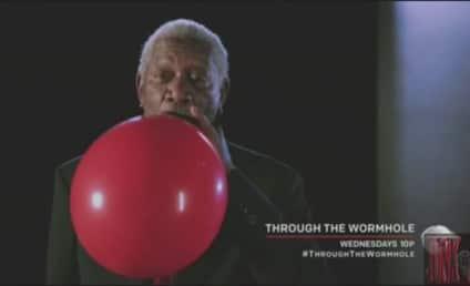 Morgan Freeman Inhales Helium, Stops Sounding Like Morgan Freeman
