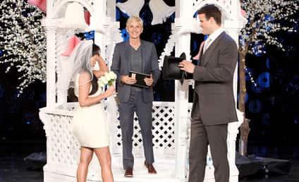 Kim Kardashian and Kris Humphries Renew Vows on Ellen