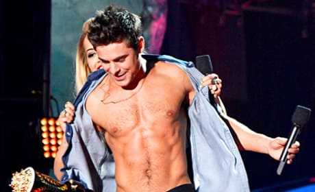 Zac Efron Shirtless at MTV Movie Awards