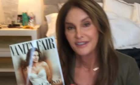 Caitlyn Jenner with Her Cover