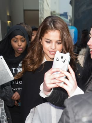 Selena Gomez with Fans