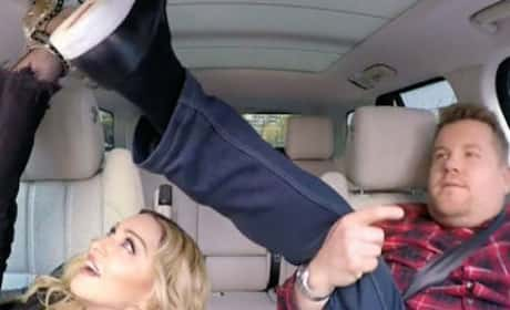 Madonna and James Corden