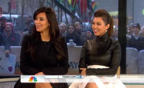 Kim Kardashian and Kourtney Kardashian on Today