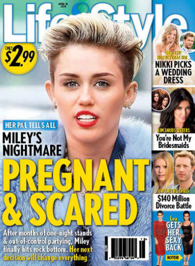 Miley Cyrus: Pregnant and Scared?
