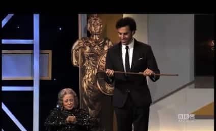 "Sacha Baron Cohen ""Kills"" Grace Cullington at Britannia Awards"