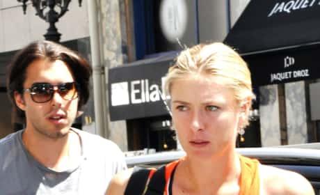 Sasha Vujacic and Maria Sharapova
